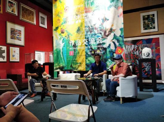 高润喜先生在作品交流会上发言
