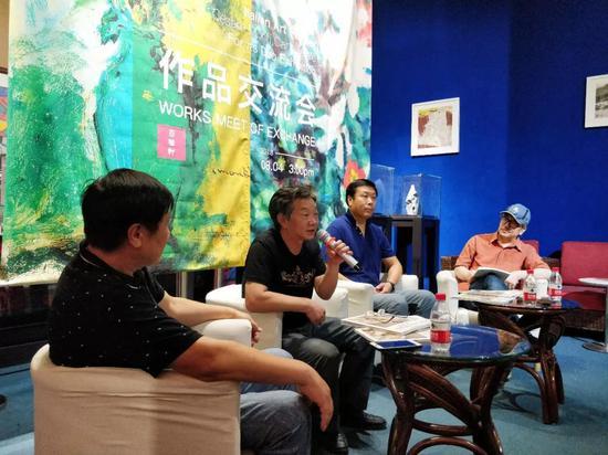 李书安先生在作品交流会上发言