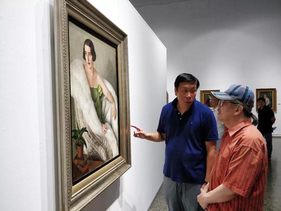 高润喜先生与郭明馥先生现场交流