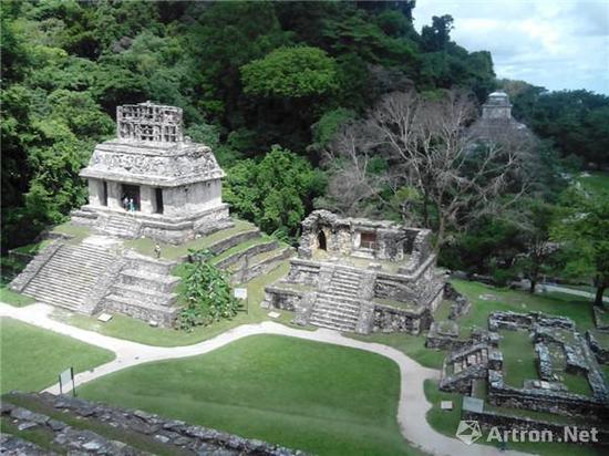 位于墨西哥的帕伦克玛雅遗址(图片来源于网络)