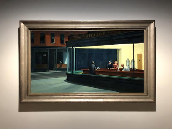 爱德华·霍普 《夜游者》 1942年 芝加哥艺术博物馆,美国艺术藏品协会之友