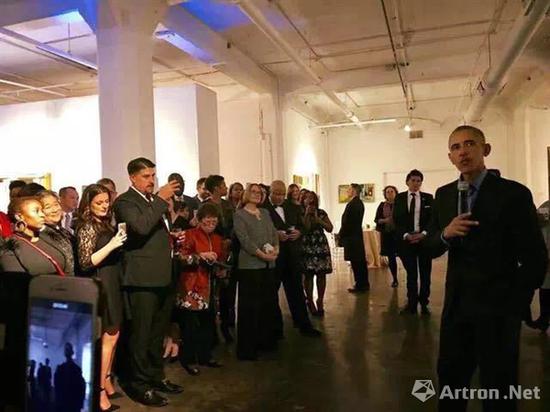 奥巴马到访周氏兄弟艺术中心
