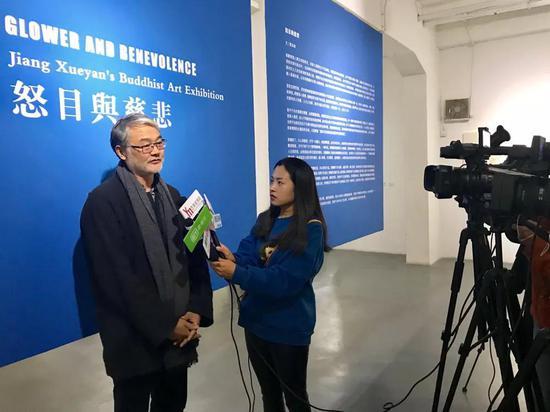 策展人贾廷峰接受媒体专访