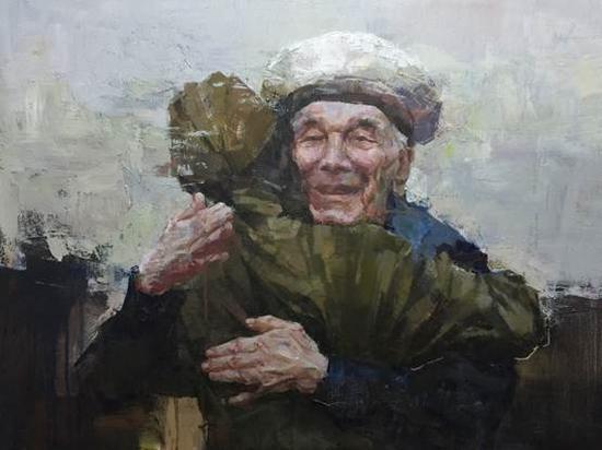 庄婕《拥抱· 壹》60X80CM油画2015年