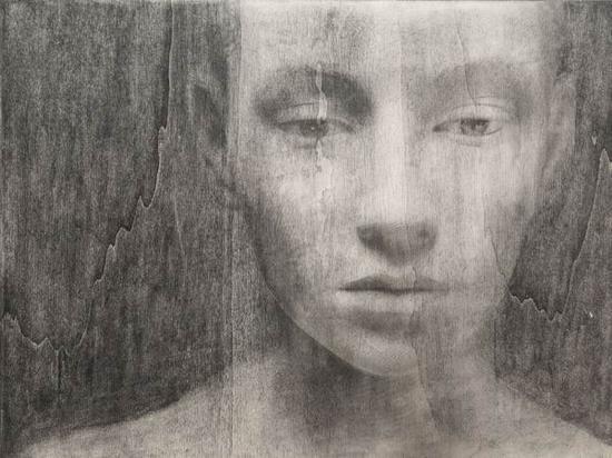 布鲁诺·瓦尔波特,《无题》,石墨/油性蜡笔