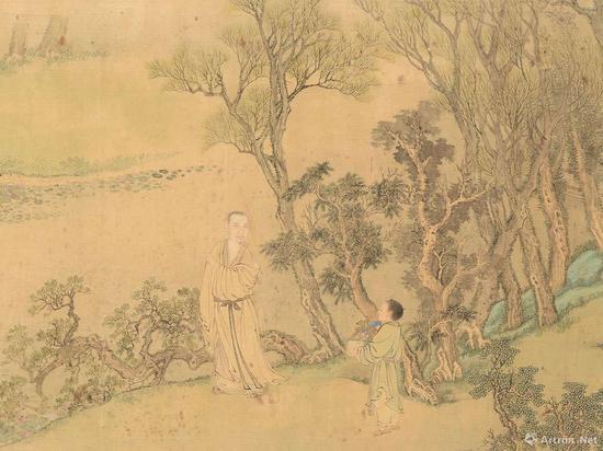 王翬、焦秉贞,《安歧像卷》(局部),1698年。图片:致谢波士顿美术馆