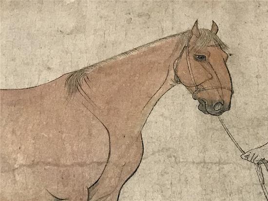"""李公麟 《五马图》第三匹马""""好头赤""""局部 中国美术报 图(下同)"""