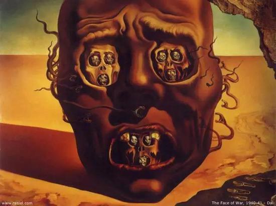 萨尔瓦多·达利《战争的面孔》