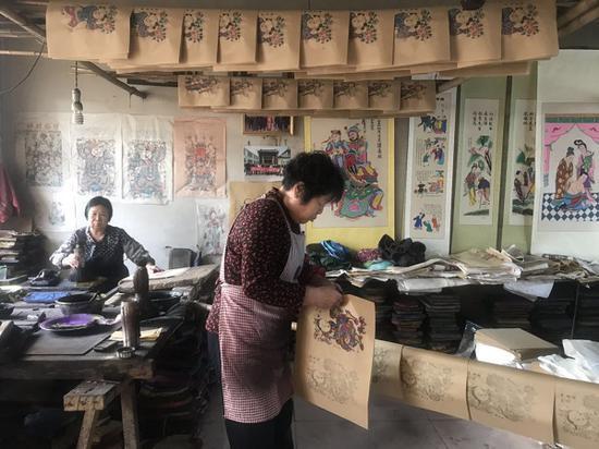 杨家埠年画手工作坊