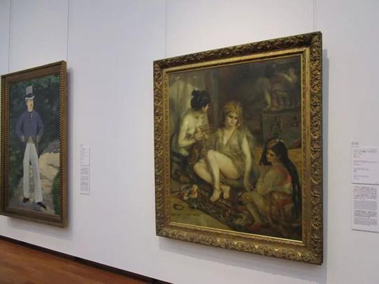 """日本国立西洋美术馆藏""""松方藏品""""之一雷诺阿《阿尔及利亚风格的巴黎舞女》"""