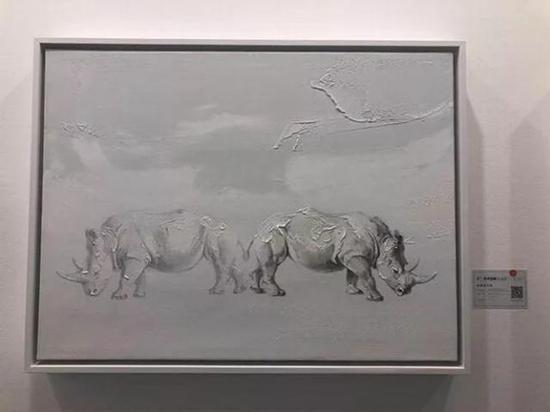 申树斌《自我存在的思考No.3》 布面油画 80x60cm 成交价:7万元