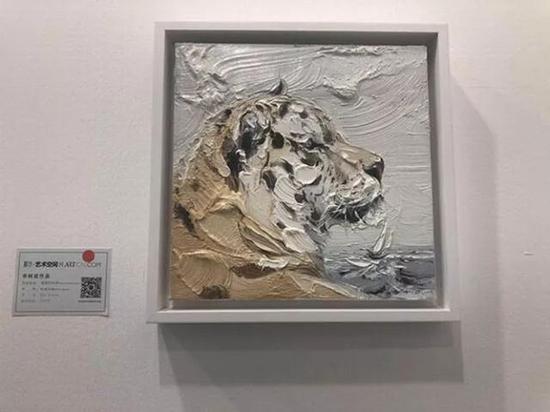 申树斌《凝固的时间》布面油画 30x30cm 成交价:1.8万元