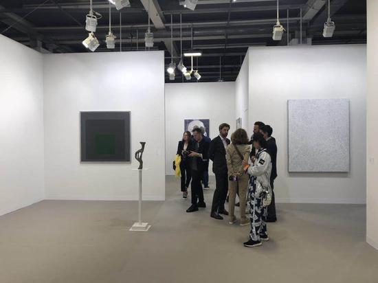 卓纳画廊展位现场(图片由收藏家杜杰现场提供)