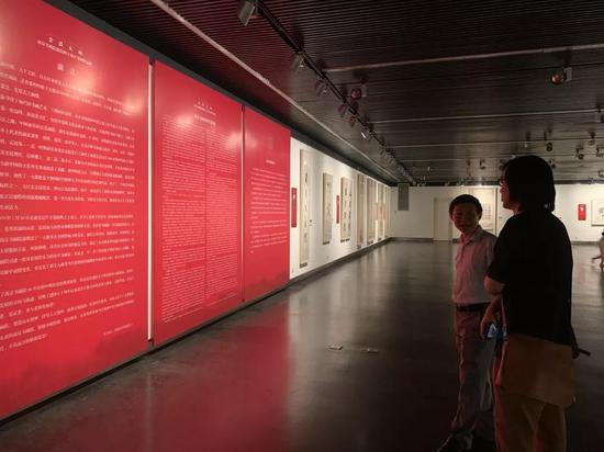 ▲南京市文化和旅游局艺术处处长葛弈观展
