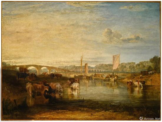 约瑟夫・马洛德・威廉・泰纳,R.A《沃尔顿桥》布面油画 92.7x123.8cm 1806年 成交价:337万英镑