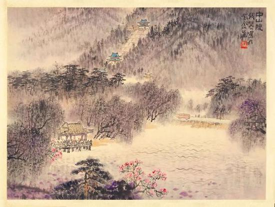 钱松喦 《中山陵》 34.5×46cm 20世纪50年代