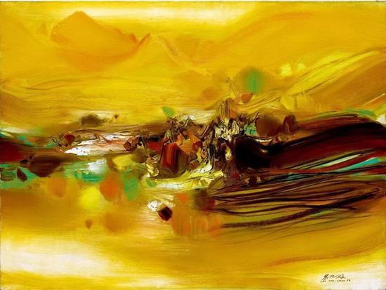 朱德群《第282号》1968 年作 油彩画布 97 x 130 cm。 成交价:HK$ 11,918,000