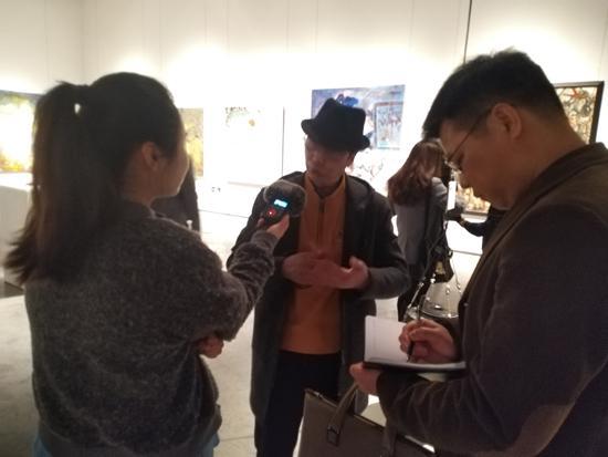 媒体采访北京大河湾美术馆馆长禹至
