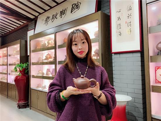陶渊紫砂工艺师陆婕婕:妙手制壶 匠心可畏