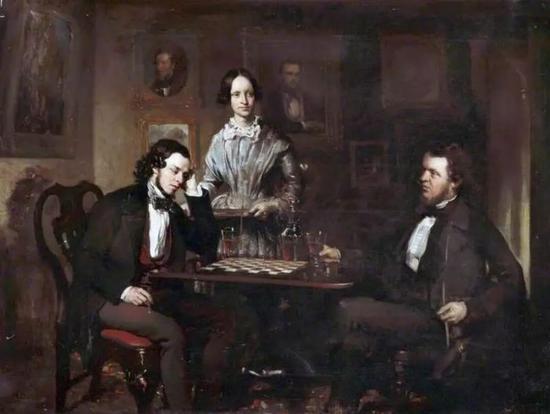 Chess Players, c.1840–c.1850
