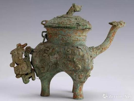 ▲西周 信宜铜盉 1974年出土于广东省信宜县