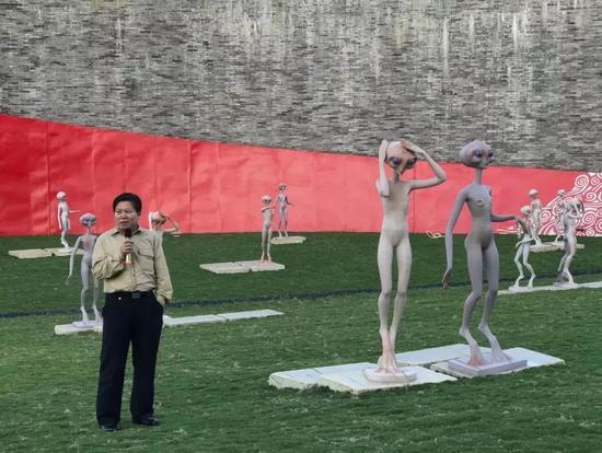 """干细胞科学家、著名科幻作家王佃亮先生为""""移民外星人""""展览致词"""