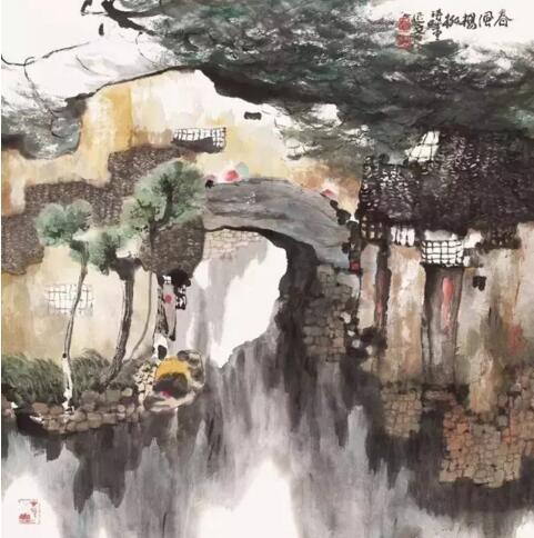 春风杨柳76×75cm