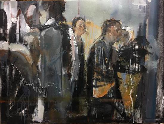 庄婕《候场》60x80cm 油画2017年