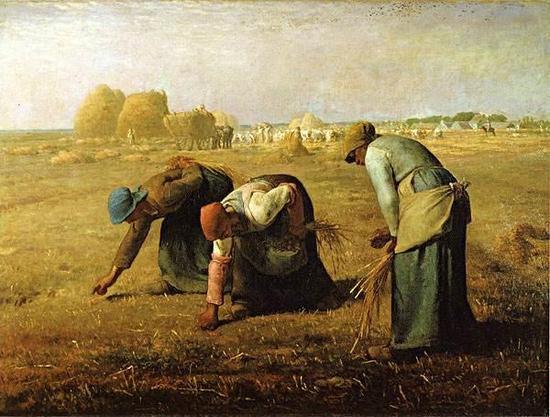 图六:柯罗《拾穗者》(1857),奥塞美术馆。