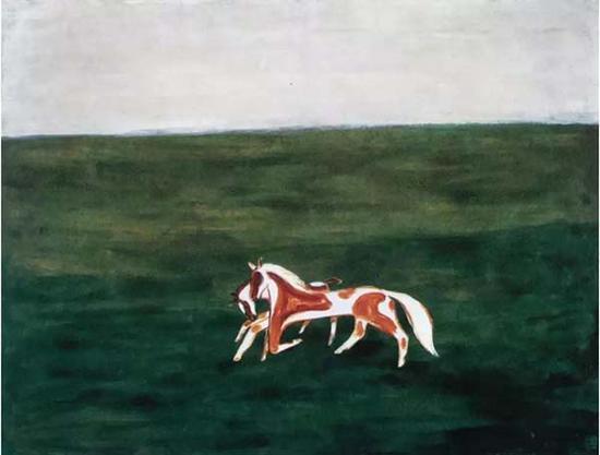 常玉 《草原漫步》1940年代