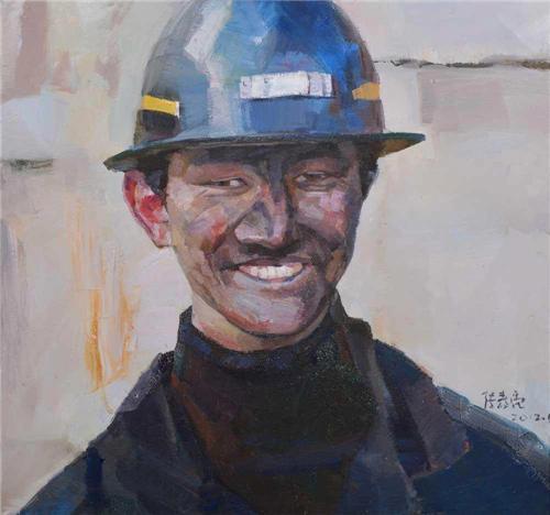 《大山矿工》60×60cm