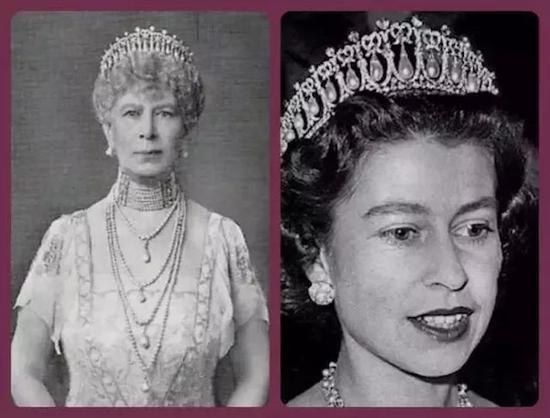 玛丽王后与伊丽莎白二世都曾佩戴The Cambridge Lover's Knot冠冕
