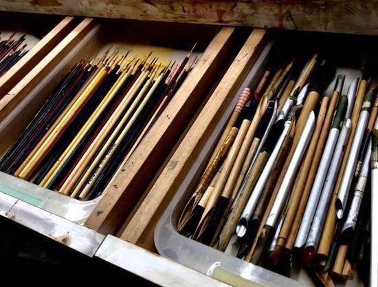 村田好谦漆器工作室所用工具