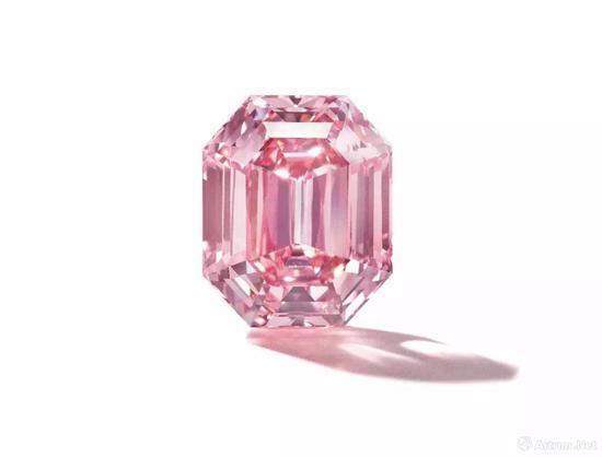 """THE PINK LEGACY""18.96克拉鲜彩粉红钻,"