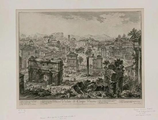 乔凡尼·巴蒂斯塔·毕拉内及,《古罗马广场》,蚀刻版画,出自《罗马景象》