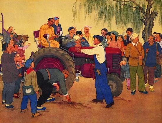 画中的拖拉机