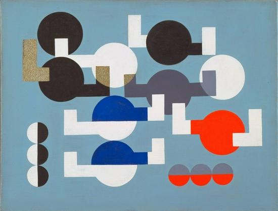 苏菲·陶柏-阿尔普,《Composition of Circles and Overlapping Angles》,1930年
