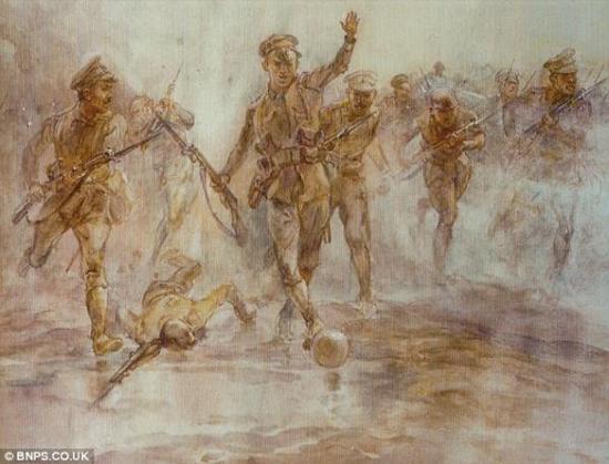 伊丽莎白·汤普森 《洛斯战斗中的伦敦爱尔兰中士》(1916)