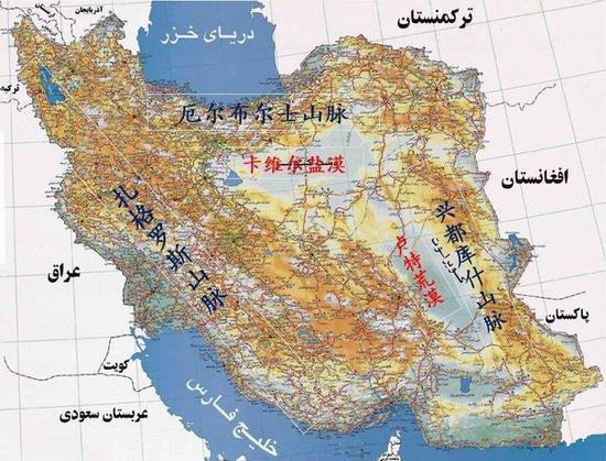 伊朗高原位置圖