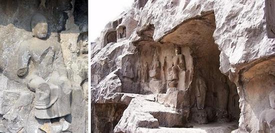龙门石窟优填王造像