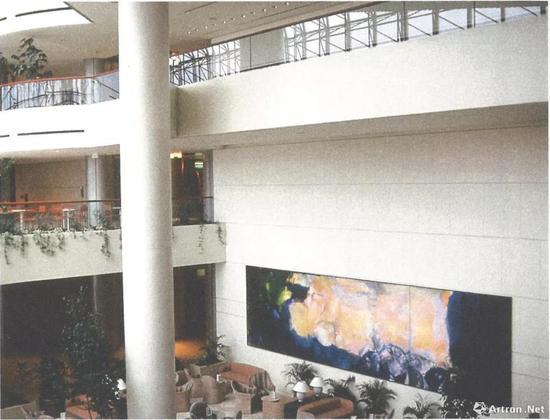 趙無極《1985年6月至10月》展出于新加坡萊佛士城圖片鳴謝:趙無極基金會