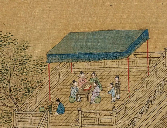 ▲跑马、射箭与亭台品茶——那个年代,这可是上流社会的活动