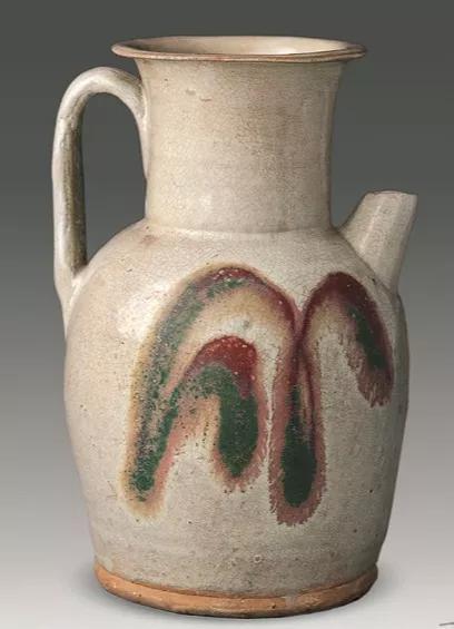 白釉红绿彩写意纹壶 湖南省博物馆藏