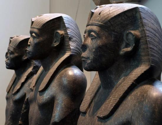 法老辛努塞尔特三世   花岗岩雕像   古埃及第十二王朝,约公元前19世纪   现藏于大英博物馆