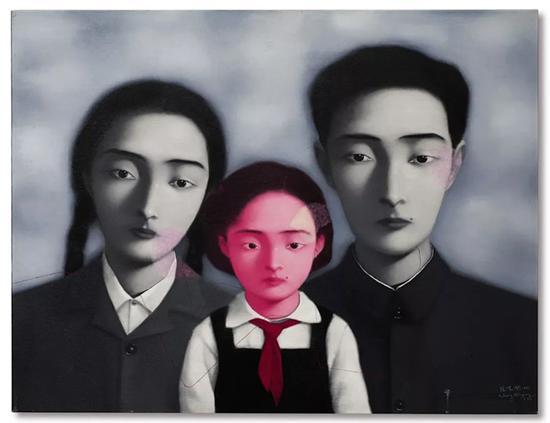 张晓刚 《血缘―大家庭1号 1997》
