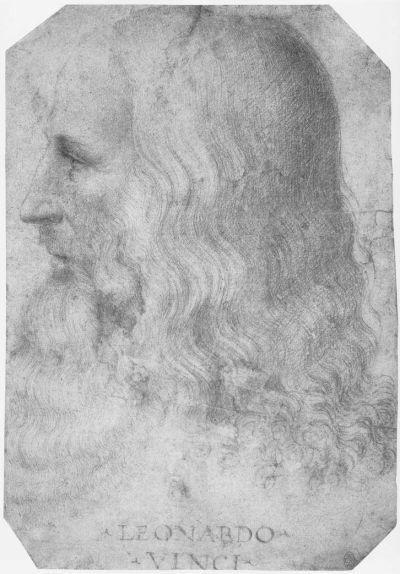 达·芬奇画像(弗朗切斯科·梅尔齐绘)