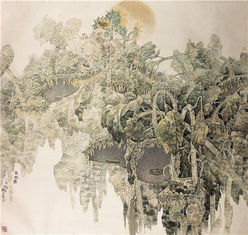 《高秋图》174×182cm 1999年