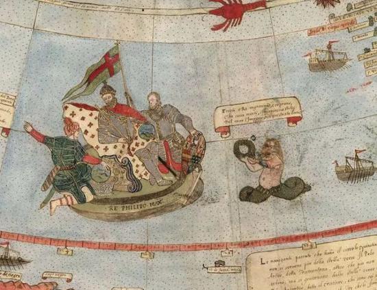 还能看到传说中的海怪正在攻击海上的船只。