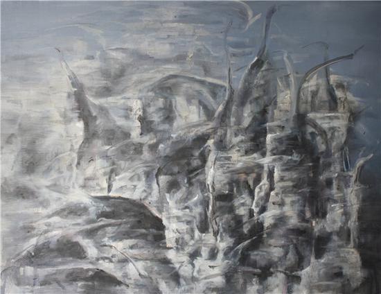 冯放《风声鹤唳》 2016 75-95cm 布面油画