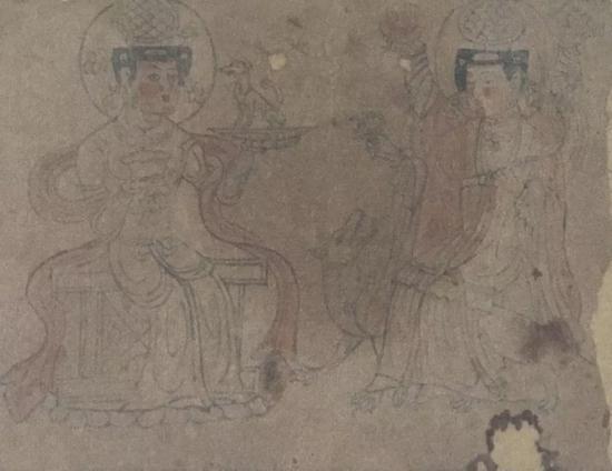 图11 祆教神祇, P.4518,法国国家图书馆藏
